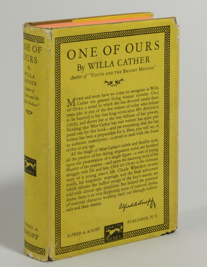 One of Ours. Willa Cather.
