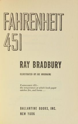 Image 3 of 4 for Fahrenheit 451 (Asbestos Binding