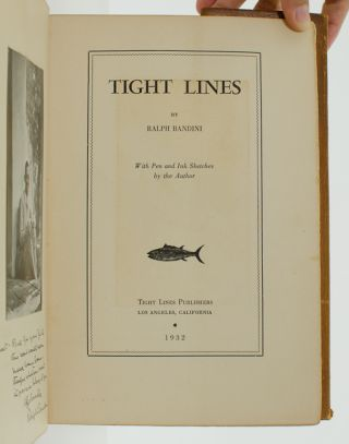 Image 5 of 6 for Tight Lines (Author's own copy, inscribed for his close friend and with an...