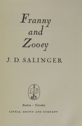Franny and Zooey (Inscribed First Edition)