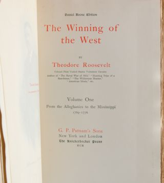 Image 5 of 5 for The Winning of the West (with autograph manuscript
