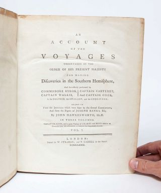 Image 3 of 18 for Complete set of Cook's Voyages: An Account of the Voyages undertaken by the...