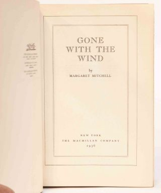 Image 7 of 9 for Gone with the Wind (Signed First Edition