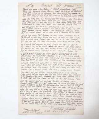 Image 1 of 2 for [Manuscript Song Lyrics, signed] Peekskill Golf Grounds
