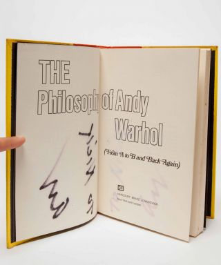 The Philosophy of Andy Warhol (From A to B & Back Again) (Signed first edition)