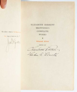 Image 2 of 8 for The Complete Works of Mrs. E. B. Browning and Robert Browing