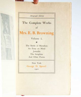 Image 3 of 8 for The Complete Works of Mrs. E. B. Browning and Robert Browing