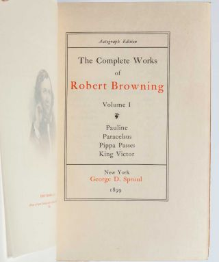 Image 7 of 8 for The Complete Works of Mrs. E. B. Browning and Robert Browing