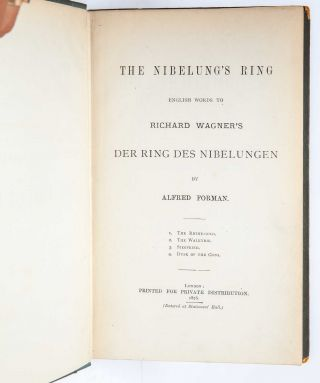 The Nibelung's Ring (Association Copy)