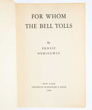Image 5 of 9 for For Whom the Bell Tolls