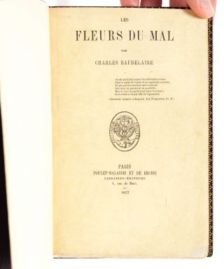 Image 4 of 12 for Les Fleurs du Mal (Presentation copy