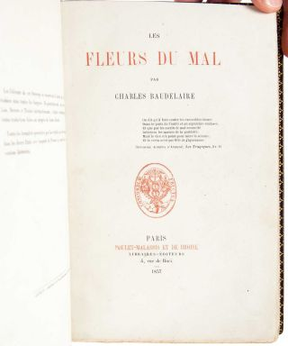 Image 6 of 12 for Les Fleurs du Mal (Presentation copy