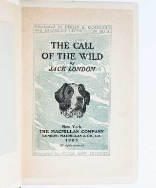 The Call of the Wild (Signed Presentation Copy)