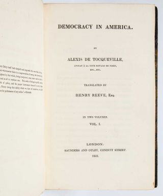 Image 4 of 9 for Democracy in America [with] Democracy in America. Part the Second