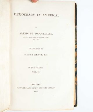 Image 6 of 9 for Democracy in America [with] Democracy in America. Part the Second