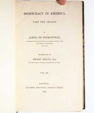 Image 7 of 9 for Democracy in America [with] Democracy in America. Part the Second
