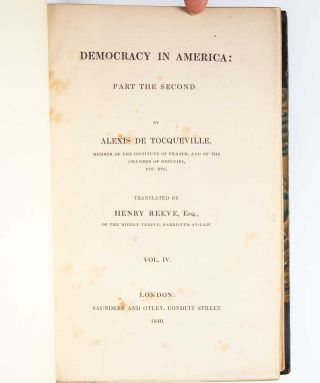 Image 8 of 9 for Democracy in America [with] Democracy in America. Part the Second