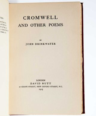 Cromwell and Other Poems (Dedication copy)