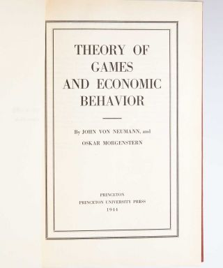 Image 6 of 9 for Theory of Games and Economic Behavior
