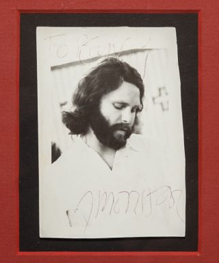 Image 1 of 1 for Original Signed Photograph of Jim Morrison
