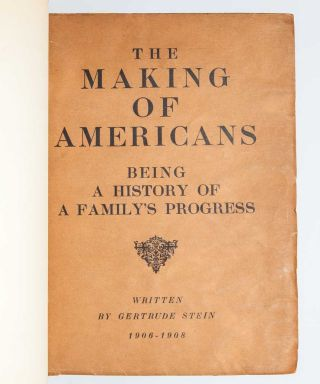Image 2 of 5 for The Making of Americans. Being a History of a Family's Progress