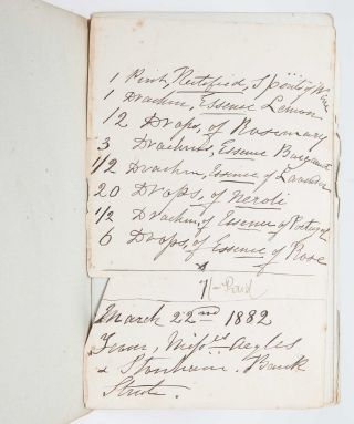 Image 2 of 5 for Receipt Book, 1874…1883, 1885