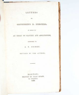 Image 2 of 6 for Letters to Catherine E. Beecher in Reply to an Essay on Slavery and...