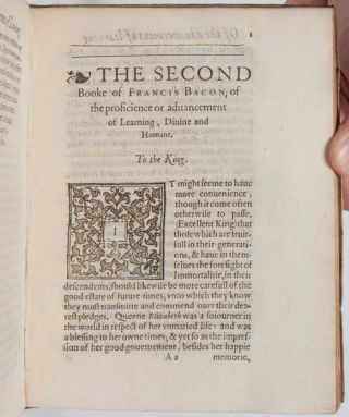 Image 8 of 9 for THE TVVOO [TWO] BOOKES OF FRANCIS BACON. Of the Proficience and Advancement of...