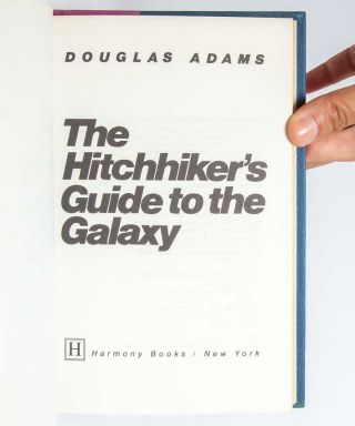The Hitchhiker's Guide to the Galaxy (Signed First Edition)