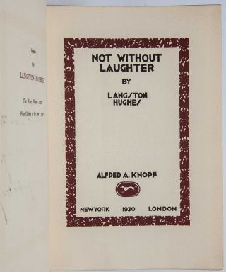 Not Without Laughter (Presentation copy)