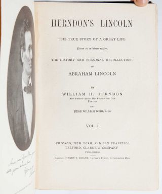 Herndon's Lincoln: The True Story of a Great Life