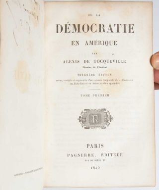 De la Democratie en Amerique (Presentation copy)