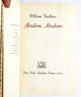 Image 4 of 7 for Absalom, Absalom! (Signed Ltd