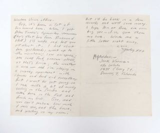 Autograph Letter Signed (ALS) to his Mother, Gabrielle Kerouac - On the Road