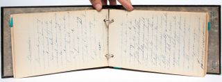 Manuscript Cookery Notebook of a 15 year old girl in the years immediately following WWI