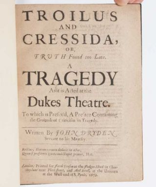 Image 4 of 6 for Troilus and Cressida, Or, Truth found too Late. A Tragedy As it is Acted at the...
