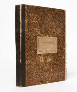 Bryn Mawr Student Commonplace Book, documenting her social life, classes, and exams 1894-96