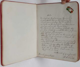 Young woman's friendship book, documenting her life and relationships in the Western Mining Regions