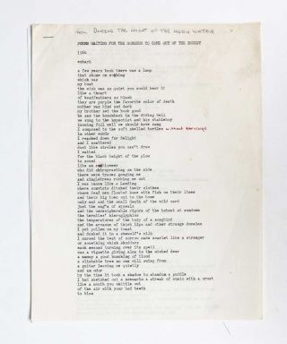 Image 1 of 5 for Poems Waiting for the Sorghum to Come Out of the Bucket original annotated...