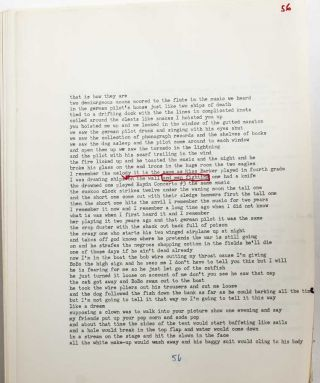 "Image 5 of 7 for Annotated typescript with notes to his publisher for ""The Battlefield Where..."