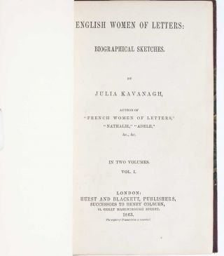 Image 4 of 5 for English Women of Letters: Biographical Sketches (In Two Volumes