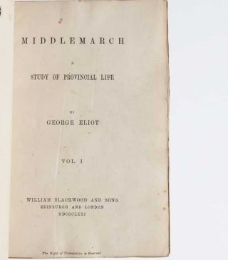 Image 3 of 7 for Middlemarch (in 4 vols