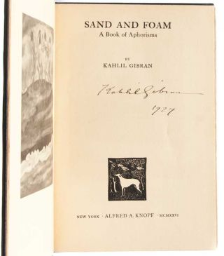 Sand and Foam (Signed Trade Edition)