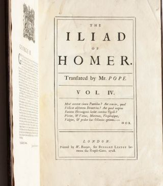 The Iliad of Homer, Translated by Mr. Pope (in 6 volumes)