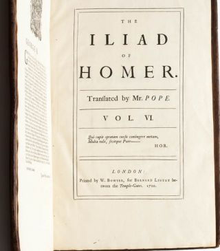 Image 15 of 16 for The Iliad of Homer, Translated by Mr. Pope (in 6 volumes