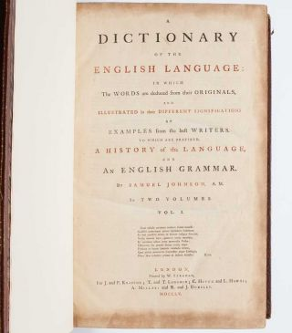 Image 5 of 9 for A Dictionary of the English Language (in two volumes