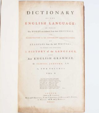 Image 6 of 9 for A Dictionary of the English Language (in two volumes