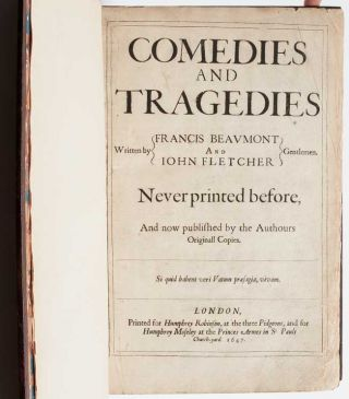 Image 4 of 7 for Comedies and Tragedies Written by Francis Beaumont and John Fletcher Gentlemen....