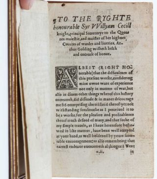 The Eyght Bookes of Caius Iulius Caesar...translated out of latin into English by Arthur Goldinge G.