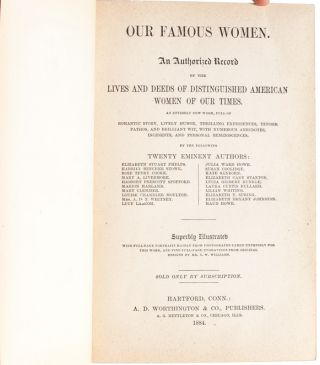 Image 5 of 9 for Our Famous Women. An Authorized Record of The Lives & Deeds of Distinguished...